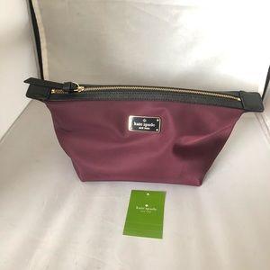 Wilson Road burgundy and black make up bag
